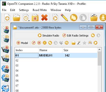Companion For OpenTX Manual – RCdiy